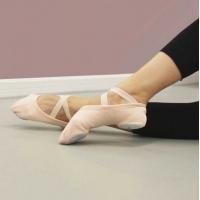 Alista balletschoenen stretch canvas roze met splitzool