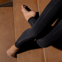 Dansez-Vous zwarte voetloze danspanty voor kinderen
