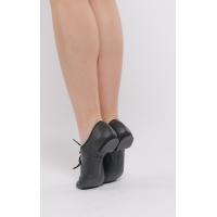 Dansez-Vous Jazz schoenen van leer Leo met rubberen hak