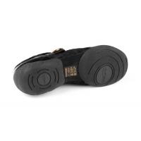 Portdance PD06 Fashion Zilver-Zwarte Danssneakers met Splitzool